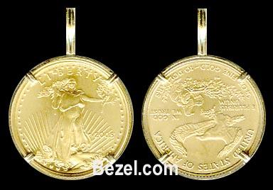 5 dollar gold coin bezel