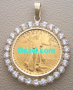 Diamond Gold Coin Bezel