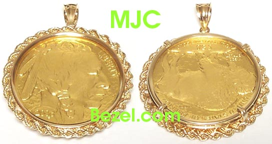 Coin bezels and other fine coin jewelry bezels protective 14k gold coin bezel pendants aloadofball Image collections
